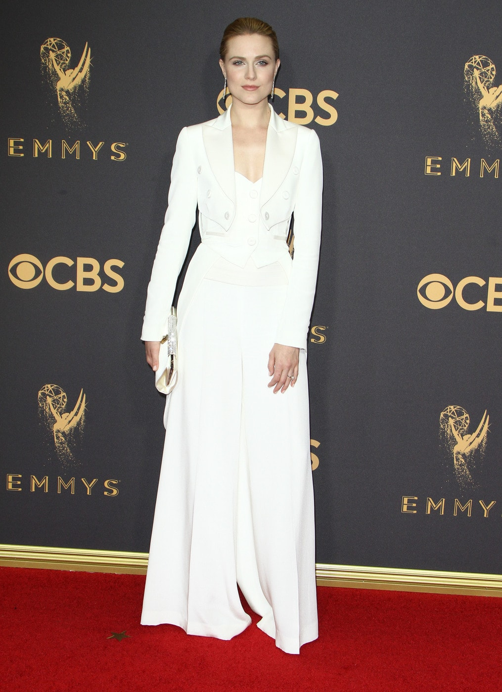 Evan Rachel Wood in Moschino at the 2017 Emmys