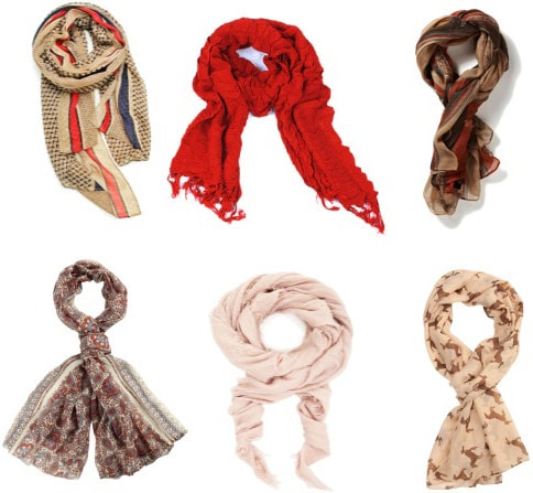 Everyday staple scarves