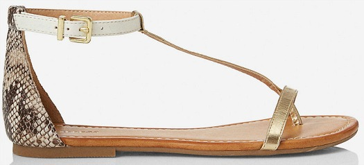 Express mixed-material sandals