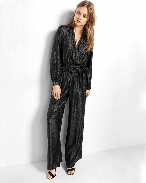 Sparkly black jumpsuit from Express
