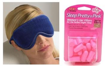 Eye mask and earplugs