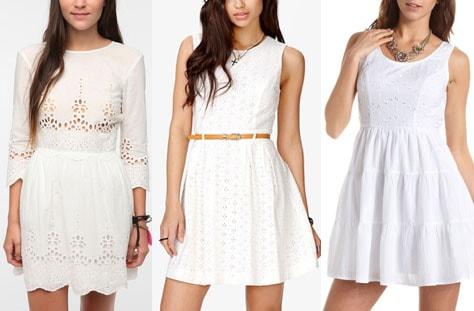 Eyelet dresses