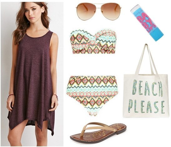 Forever 21 dress beach look