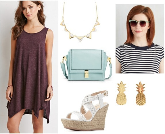 Forever 21 dress, espadrilles, mint bag