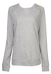 F21 studded shoulder sweatshirt