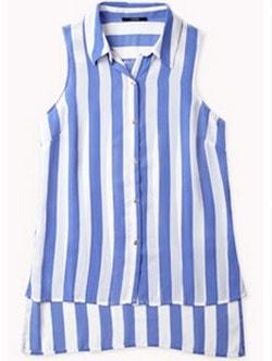 F21 vertical stripe blouse