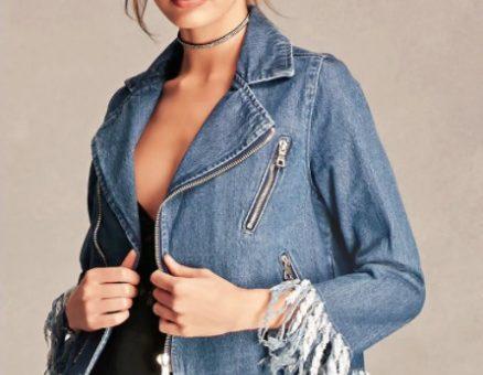 Forever 21 fringe jacket