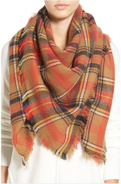 Fabulous Find Nordstrom plaid scarf