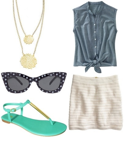 fabulous find target poeske flat sandals outfit 2