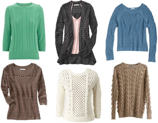 Fall 2011 Trend: Chunky knit sweaters