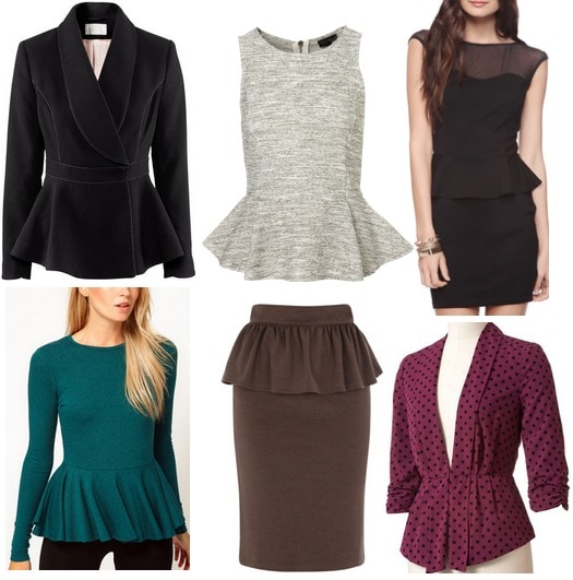 Fall 2012 Fashion Trend Peplum