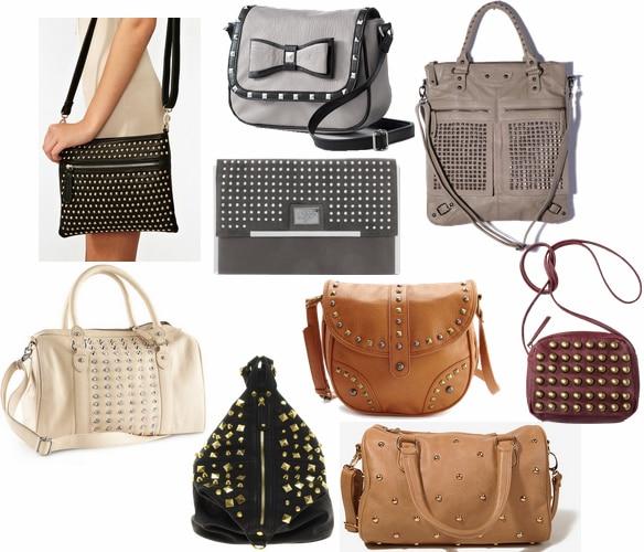 fall 2012 handbag trend studs