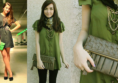 Fall 2012 fashion trend: green on green