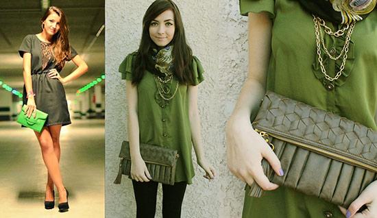 Fall 2012 fashion trend: green on green