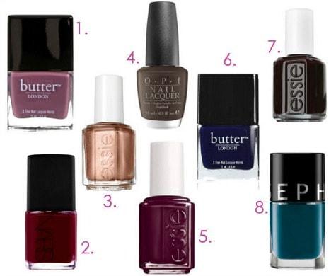 Fall 2013 nail polishes