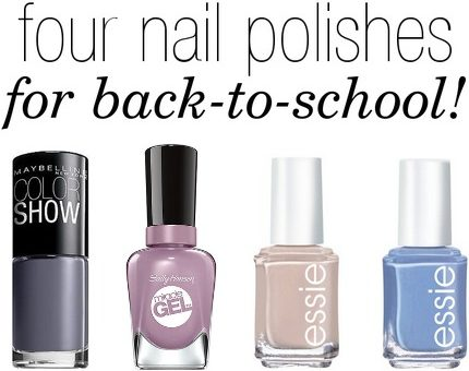 Fall 2014 back to school nail polishes