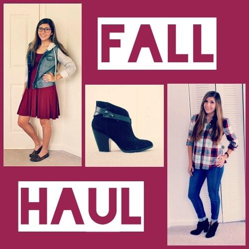 Fall 2014 fashion haul