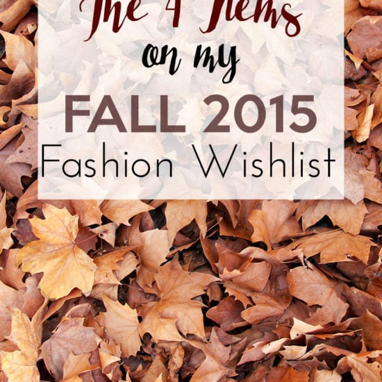 My Fall 2015 fashion wishlist