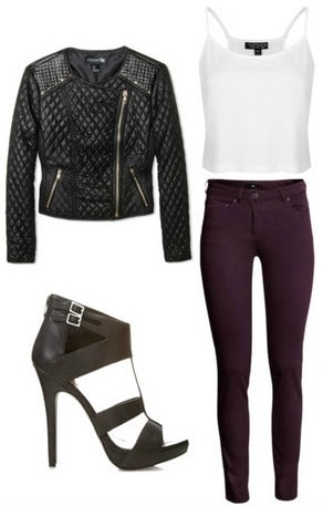Fall biker jacket outfit