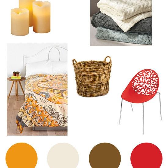 Fall colors home decor