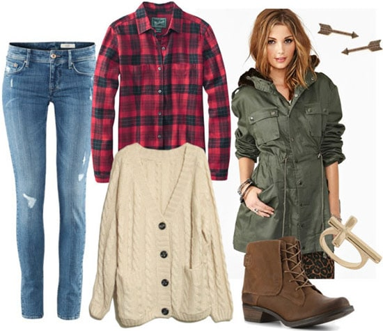 Fall layering outfit 1