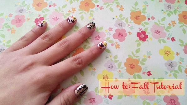 Fall nail art tutorial