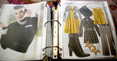 Fashion inspiration binder
