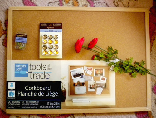 Supplies for making a fashion inspiration board