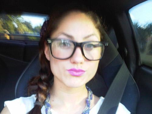 Luisa from Florida International University wearing faux glasses