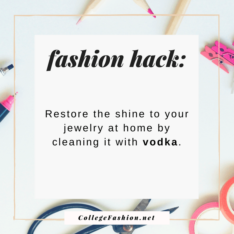 Fashion hack: Restore shine to jewelry with vodka