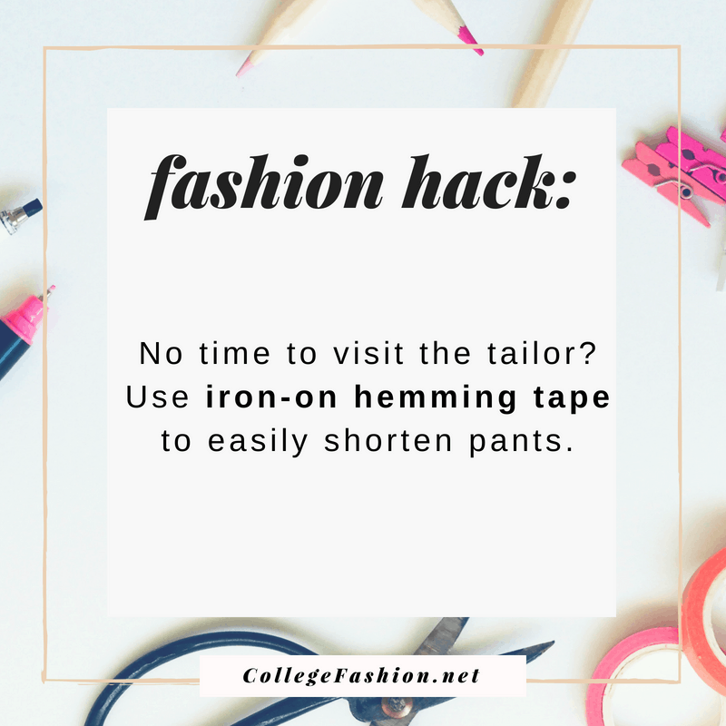 Fashion hack: No time to visit a tailor? Hem your pants with iron-on hemming tape