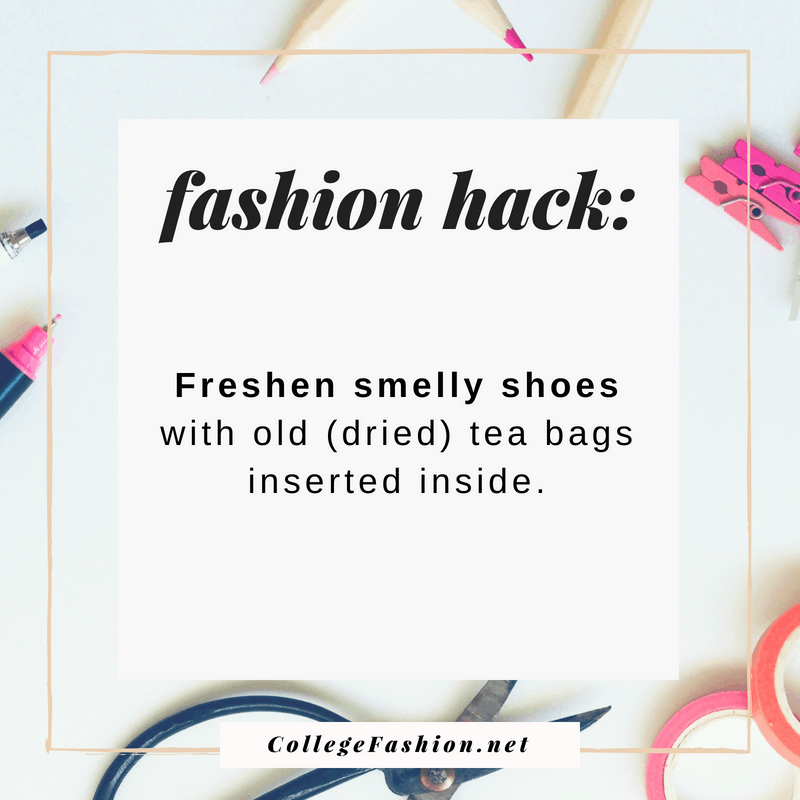 Fashion hack: Freshen smelly shoes with green tea bags