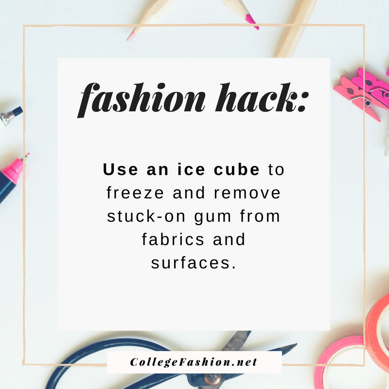 Fashion hack: Use an ice cube to remove gum