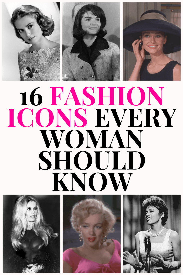 16 fashion icons every woman should know - the classic fashionistas and icons plus how to get their style
