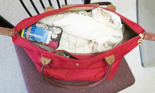 Fashion major finals week bag - inside