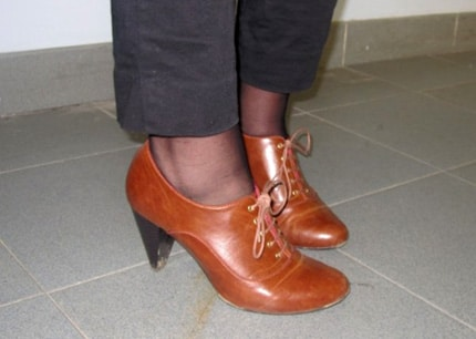 Cute shoes on a college fashionista from Ohio University