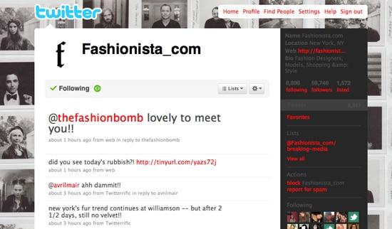 Fashionista Twitter