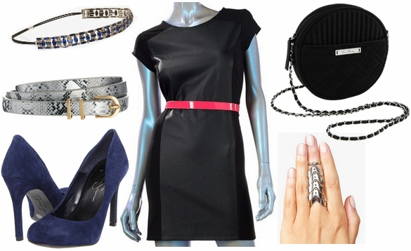 Faux leather dress outfit