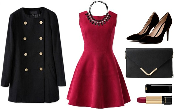 Faux suede dress outfit