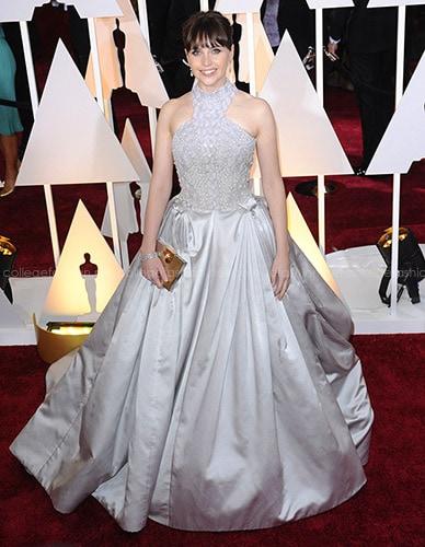 Felicity Jones in Alexander McQueen at the 2015 Oscars
