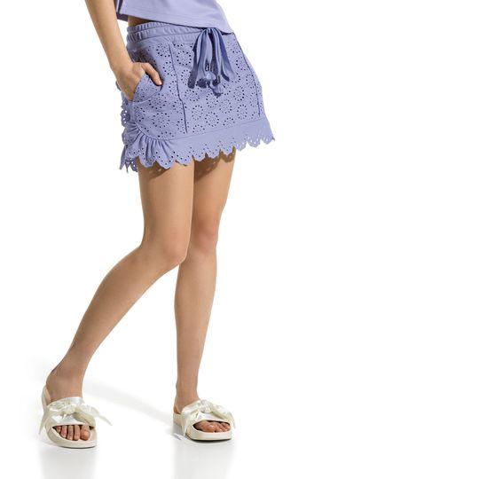 Fenty puma lace mini skirt in lavender purple