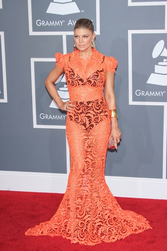 Fergie at the 54th Annual GRAMMY Awards