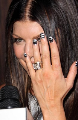 fergie striped nails