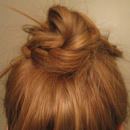 Braided bun hairstyle: Back view