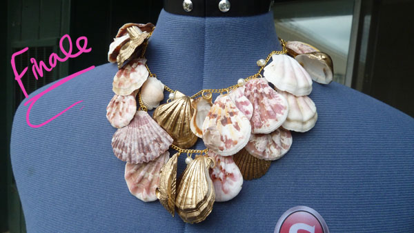 Final Product DIY Seashell Necklace