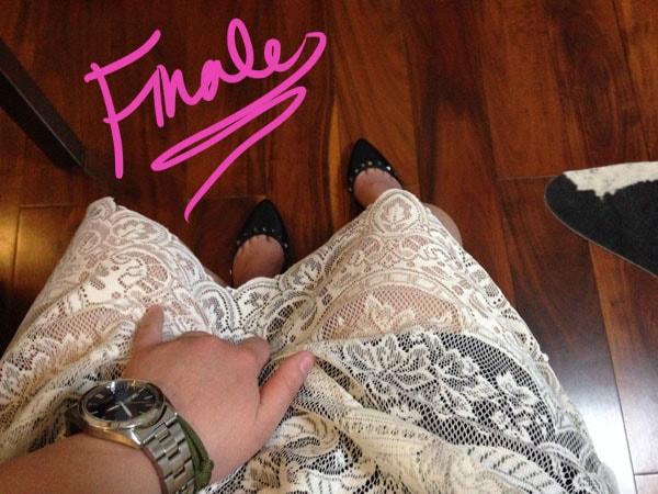 Finale diy lace skirt