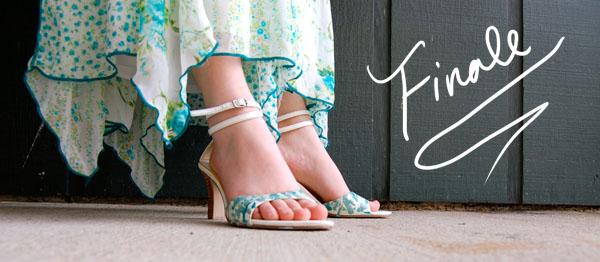 Finale DIY Paint Splatter Heels
