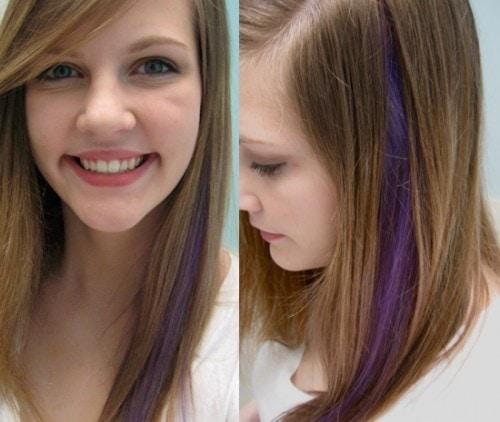 A Manic Panic Experiment Purple Hair Streak College Fashion