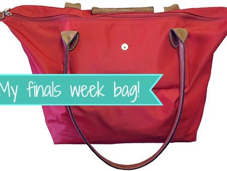 What's in my bag? Fashion school finals week edition