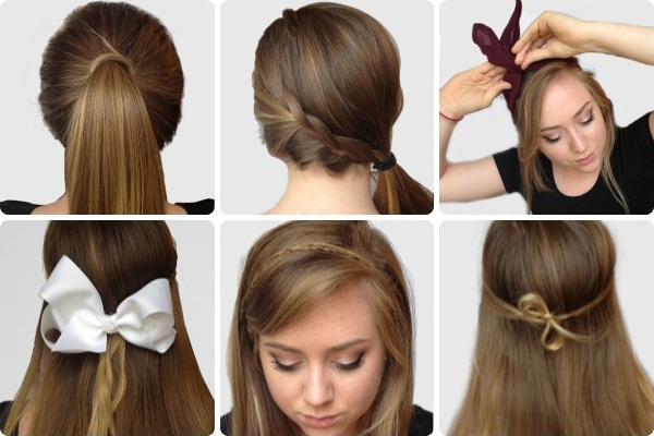 Easy hairstyles for finals week